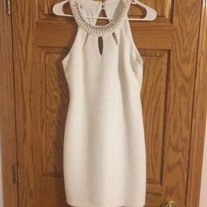 White Dress & Beaded Neckline